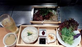 特選牛ハラミとツラミの鉄板焼 新鮮野菜セット 「神戸六甲道・ぎゅんた」 大名古屋ビルヂング3階