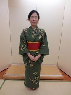 Wearing Yukata