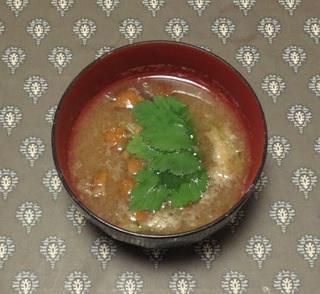 Grated Japanese white radish soup with nameko mushroom